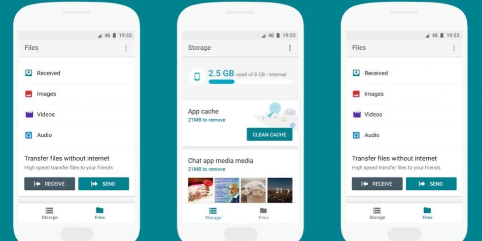 Google presenta una app para liberar el almacenamiento de su celular